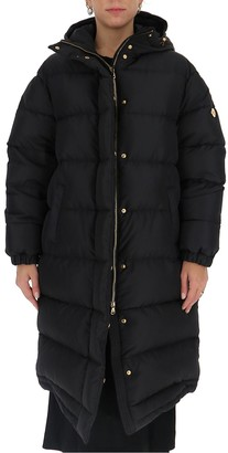 Versace Logo Plaque Hooded Padded Coat