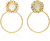 Amrapali Kundan 18K Gold and Diamond Hoop Earrings