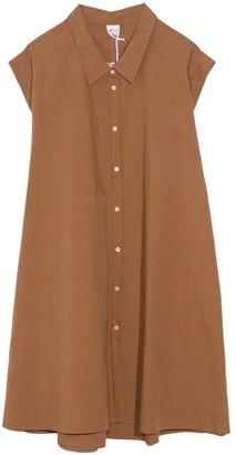 Aspesi A-Line Stripe Dress with Collar in Tobacco