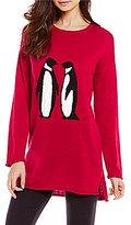 Sleep Sense Intarsia Penguin Sweater Lounge Top