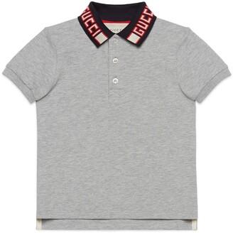 Gucci Children's cotton polo with stripe