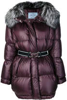 Prada oversized hooded padded coat