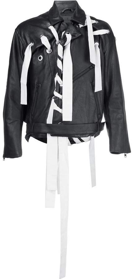 Craig Green eyelets biker jacket