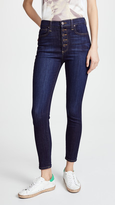 Alice + Olivia High Rise Exposed Button Jeans