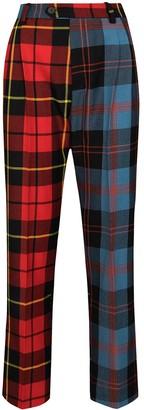 Charles Jeffrey Loverboy x Browns 50 panelled tartan-print trousers