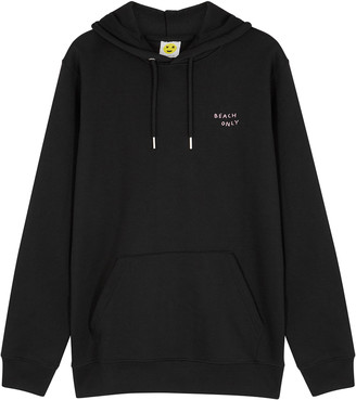 YEAH RIGHT NYC Beach Only Hooded Cotton-blend Sweatshirt