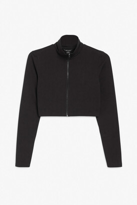Monki Fitted zip top