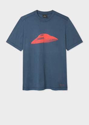 Paul Smith Men's Navy 'Flying Saucer' Print T-Shirt