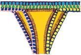 Kiini Ro Crochet-trimmed Triangle Bikini Briefs - Yellow