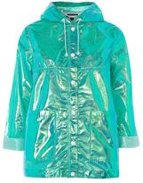 Topshop Metallic raincoat mac