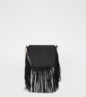 New Look Suedette Fringe Cross Body Bag