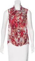 Carolina Herrera Sleeveless Silk Top