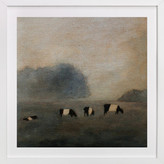 Minted Cows in the Mist Art Print
