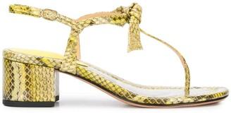 Alexandre Birman Clarita snake-effect sandals