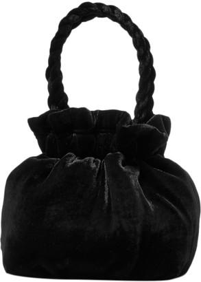 STAUD Stella / Grace Black Velvet Handbags
