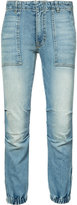 Nili Lotan gathered ankle jeans - women - Polyurethane/cotton - 25