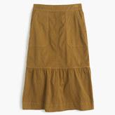 J.Crew Garment-dyed chino ruffle skirt