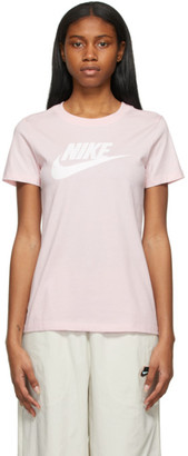 Nike Pink Essential Icon Futura T-Shirt