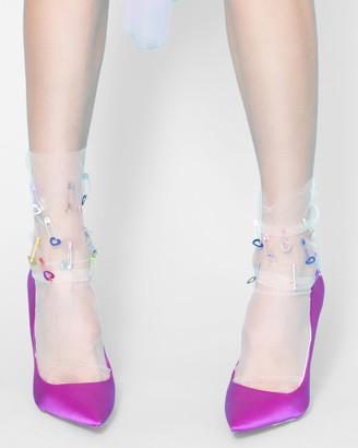 High Heel Jungle - Women's White All socks - Neon Dream Sock - Size One Size, One size at The Iconic