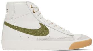 Nike White Croc Blazer Mid 77 Vintage Sneakers