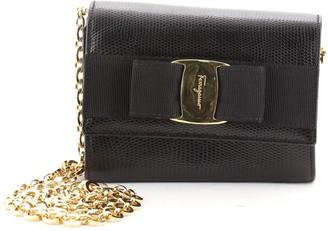Salvatore Ferragamo Ginny Chain Waist Bag Lizard Embossed Leather Small