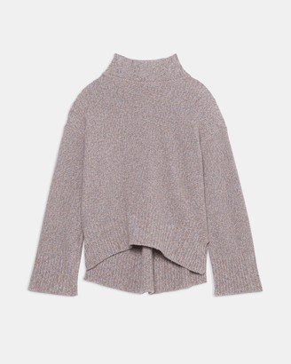Theory Karenia Turtleneck Sweater in Marled Cashmere