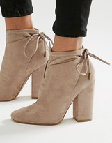 KENDALL + KYLIE Corset Tie Back Ankle Boot