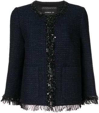 Andrew Gn sequin trimmed tweed jacket