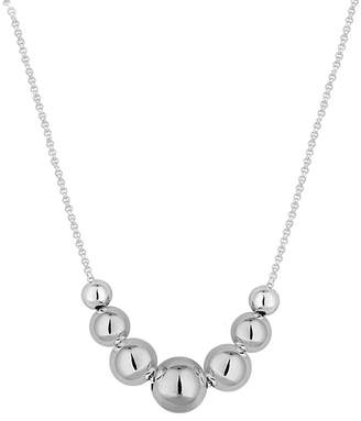 Yeidid International Women's Necklaces - Sterling Silver Graduated Bead Necklace