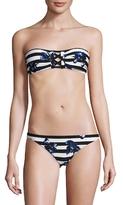 Proenza Schouler Printed Bandeau Bikini Top and Bottom Set