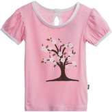 Kickee Pants Print Puff Tee (Toddler/Kid) - Cherry Tree-7