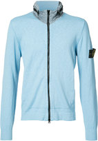 Stone Island hooded zip cardigan - men - Cotton/Nylon - XXXL