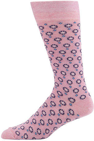 Neiman Marcus Men's Floral Foulard Crew Socks