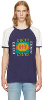 Gucci Navy Raglan 'Modern Future' Logo T-Shirt