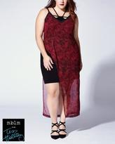 Penningtons Tess Holliday - Sleeveless Printed Asymmetric Maxi Dress