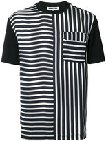 McQ by Alexander McQueen multi stripe T-shirt - men - Polyester/Cupro/Viscose - 52