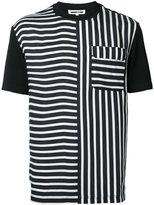 McQ by Alexander McQueen multi stripe T-shirt - men - Viscose/Polyester/Cupro - 52