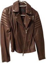 AllSaints Brown Leather Leather Jacket for Women