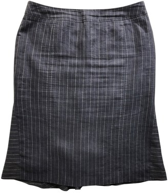 Max Mara Blue Linen Skirt for Women
