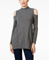 Style&Co. Style & Co. Cold-Shoulder Mock-Neck Sweater, Only at Macy's