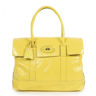 Mulberry Bayswater Yellow Patent leather Handbags