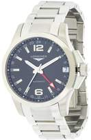 Longines Conquest L36874566 41mm Silver Steel Bracelet & Case Synthetic Sapphire Men's Watch