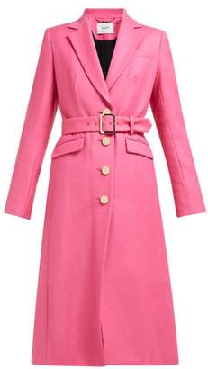 Erdem Edmund Single-breasted Wool-twill Coat - Womens - Pink