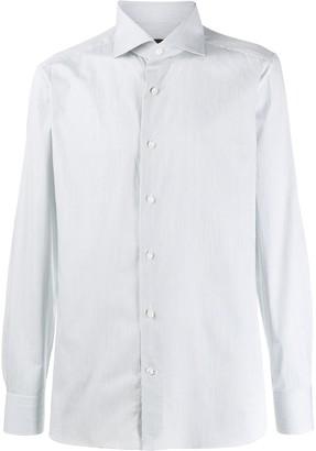 Ermenegildo Zegna Striped Long-Sleeve Shirt
