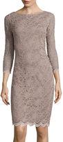 Tiana B 3/4-Sleeve Allover Lace Dress - Tall