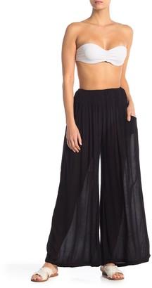 Elan International Smocked Waist Cover-Up Pants