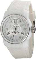 Christian Audigier Women's Intensity INT-317 White Rubber Quartz Watch with Dial