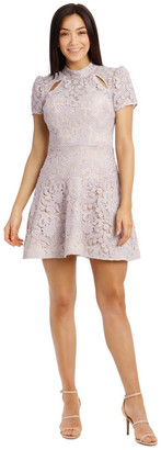 B By Bariano B by Bariano Lindsey Lace Sleeve Mini Dress