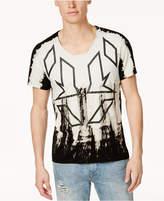 GUESS Men's Scoop-Neck Geo-Print T-Shirt