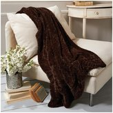 Twos Company Two's Company Dark Chocolate Faux Fur Mink Throw